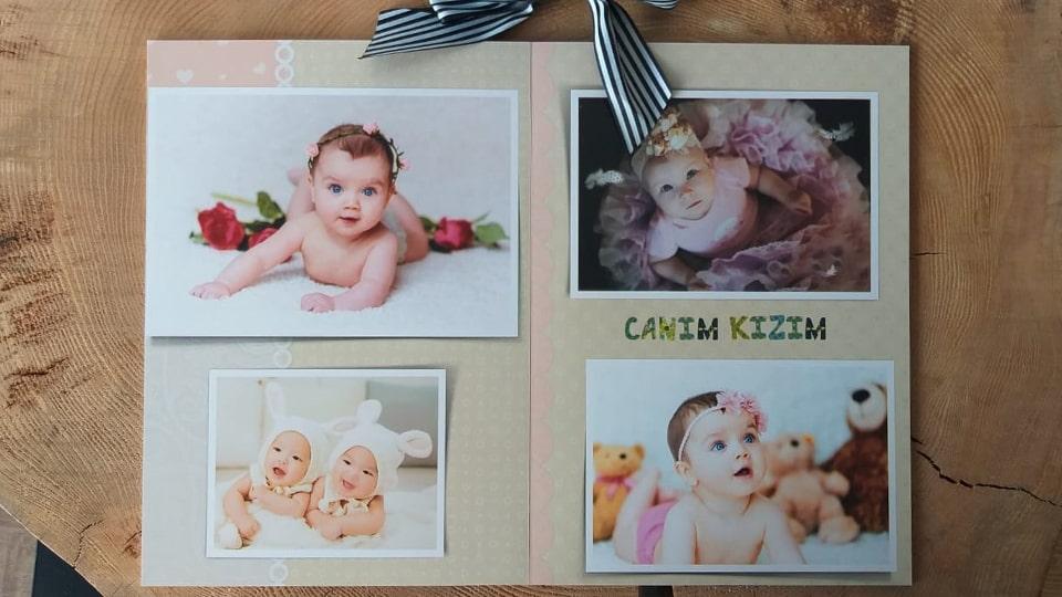 Bebek fotoğraf albümü tasarlama