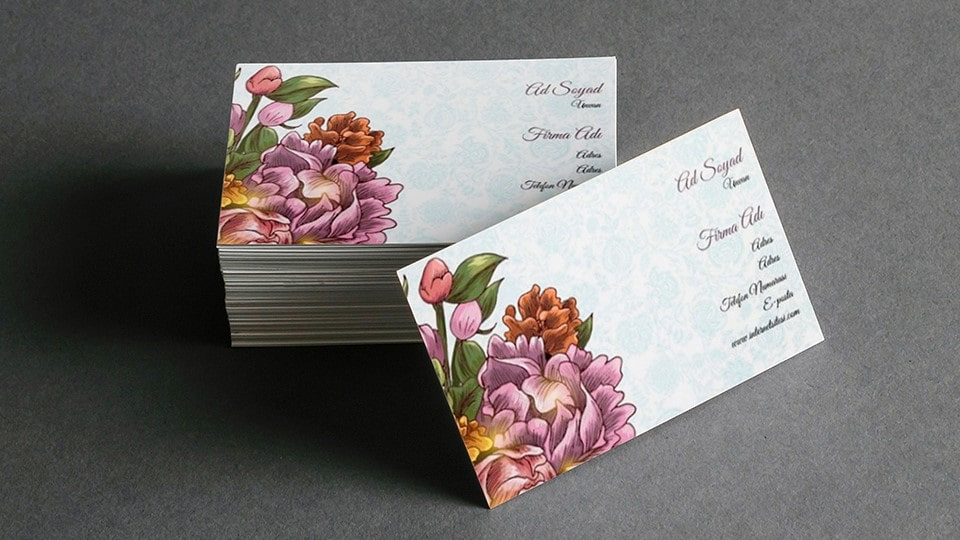 Online business card examples