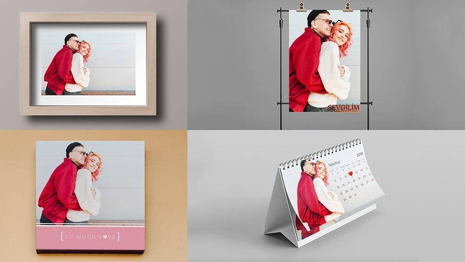 Sevgiliye fotoğraflardan hediye