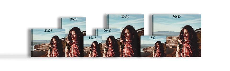 Photobook sizes