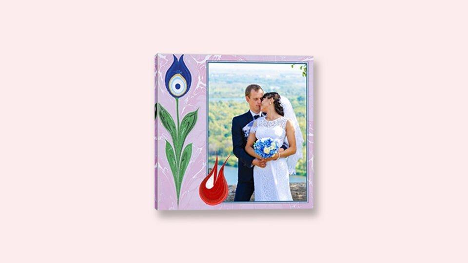 Kanvas tablo düğün resmi