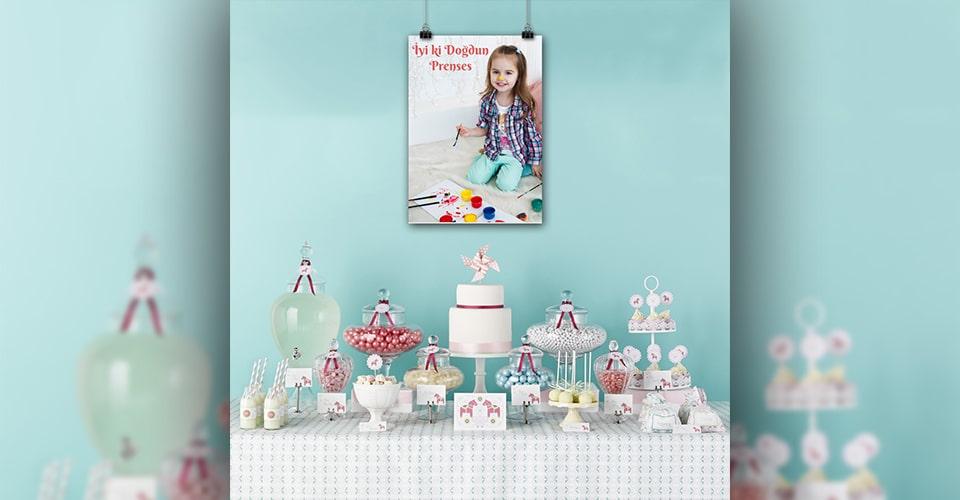 Poster baskı doğum günü